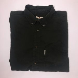 Men's Woolrich Forest Green Button Down
